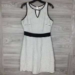 Maurices White Stripe Keyhole Mini Dress